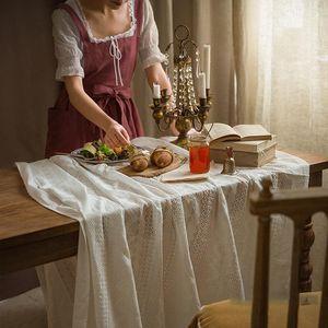 Fsislover Vintage Dentelle Nappe Doux Table Table Couvre-table Sous Nordic Rectangle Tissu Obrus Tafelkleed Mantel de Mesa