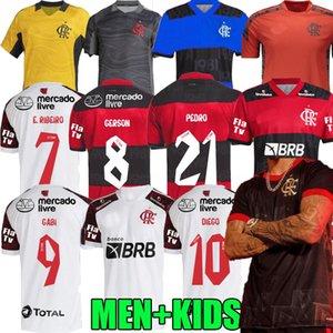 flamengo club soccer jersey 2021 2022 brazils kit supercopa final GUERRERO DIEGO VINICIUS JR Camisa Mengo GABRIEL B man kids football shirt