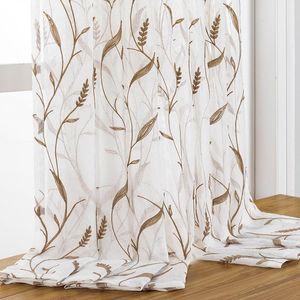 DZQ вышитый тюль занавес для гостиной прозрачный занавес для спальни Кухня Оконная обработка Домашнее Украшение драпировки