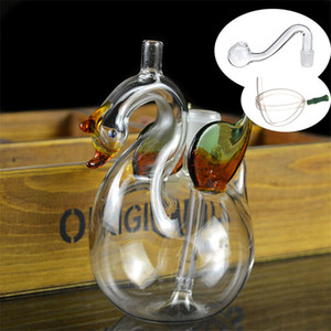 Hand Craft Art Glass Oil Burner bong Mini Glass Hookah Smoking Pipe with Cigeratte filter Holder with 10mm glass oil pipe and silicone tube