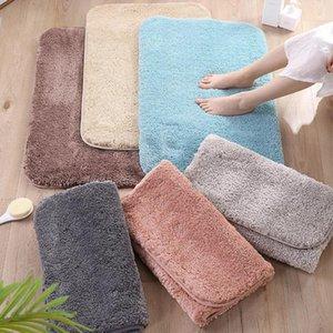 Peluche épaissie maison couleur solide antidérapant doux tapis de salle de bain tapis corail mousse mousse tapis tapis cuisine toilette décor de plancher lavable