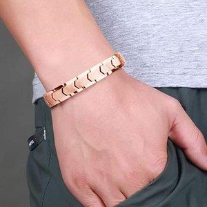 Braccialetto per la salute del magnete al neodimio per gli uomini e le donne in acciaio in acciaio in acciaio in acciaio in acciaio in acciaio unisex hip hop rock bracciale gioielli