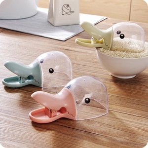 Multifunction Rice Measuring Cup Kitchen Gadgets Cereals Rice Bags Sealing Clip Water Spoon Duck Mouth Shape Plastic Rice Shovel DHE9314