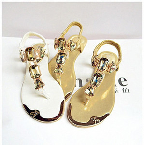 Padegao mujer sandalias 2020 moda de alta calidad de rhinestone mujeres flip chanclas zapatos damas casual verano playa zapatos pdg752 i3eu #