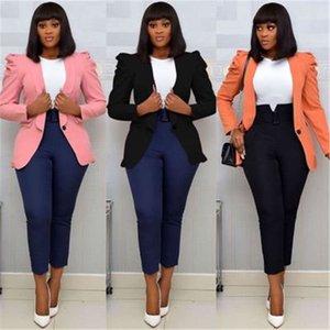 Damen Massive Farbe Anzug Jacke Mode Trend Langarm Retell Elastizität Blazer Designer Weibliche Winter Neue Button Casual Slim Coats