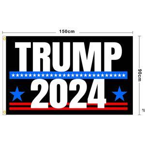 NOUVEAU Trump 2024 Drapeau U.S. Drapeau de la campagne présidentielle 90 * 150cm 3 * 5ft bannière drapeau pour maison de jardinage Yard 13 style DHL DHL EWF4965