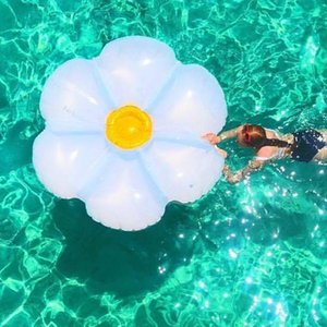 160cm Giant Glitter Luxe Lie-On Float Floral 2021 Newest Swimming Ring Inflatable Tube Fun Toys Water Floats Air Mattress