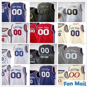 Пользовательские напечатанные Аллен 3 Иверсон Джулиус 6 Serving 10 Maurice Щеки Моисея 2 Malone Wilt 13 ChamberLain Мужчины Женщины Детские Дети Молодежные баскетбольные майки