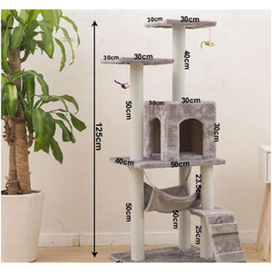 New Cat Tree Tower Condo Furniture Scratch Post Cat Pet House Play Climbing Frames Scratching jllcez xmh_home