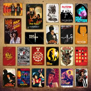 2021 Funny Clássico filme Poster Poster Pulp Ficção Adesivo de Parede Do Vintage Metal Sinais Bar Bar Pub Café Decoração Decoração de Ferro Arte Pintura Placa