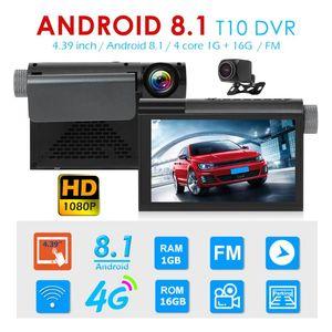 HD Dashboard Camera T10 1080p Android 8.1 4G GPS WiFi Dash Cam + Rearview Camera Unique Parts Portable Car Ornaments