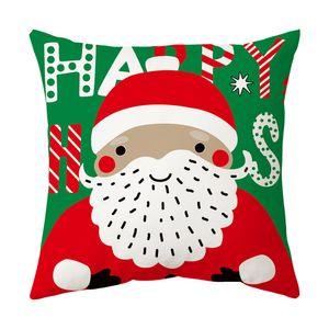 عيد ميلاد سعيد التهيئة وسادة حالة شجرة سيارة نمط الطباعة الرقمية وسادة غطاء الكرتون زخرفة ديكور المنزل pillowslip