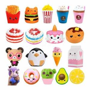Быстрая доставка Jumbo Kawaii Fres Fries Panda Squishy Cake олень молочный сжимание игрушки медленные поднимающиеся сливки аромат аромат антистрессовый ребенок ребенок детские игрушки CY02
