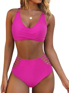 N4P2SWIMSUIT PUSH TOISTED OMKAGI WRPUM UP High Mujeres 2 piezas Recorte descarado Lace Up Bikini