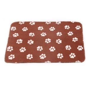 Köpek Battaniye Köpek Pençe Baskılı Battaniye Pet Kedi Uyku Mat Evcil Bath Towel Sıcak Kış Pet Malzemeleri Atarlar 60x70 cm BWD4951