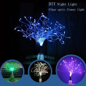 DIY Benutzerdefinierte kleine Faseroptik Blumenlicht Jede Modellierung Multicolor LED Light Night Lampenschreibtischlampe Urlaub Hochzeitshaus