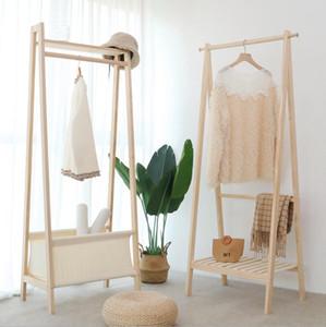 Clothes rack floor to floor bedroom bag racks modern simple cloakroom simple clothes rack simple solid wood clothes rack
