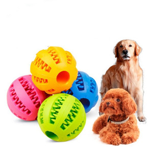 Soft Pet Dog Toys Funny Interactive Elasticity Ball Dog Chew Toy For Dog Tooth Clean Ball Food Extra-tough Rubber Ball