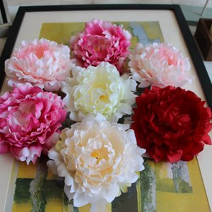 New single Artificial Flowers Silk Peony Flower Heads Party Wedding Decoration Supplies Simulation Fake Flower Head Home Decorations 12cm