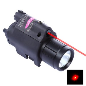 New Flashlight Tactical Insight Red Laser CREE LED 300LM Light Torch Lantern For Pistol Handgun for Hunting Camping Fishing