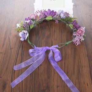 Haimeikang nova chegada noiva floral coroa faixa de cabelo flor headbands para mulheres guirlanda flor grinalda cabelo do casamento Qylowy