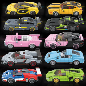 2020 New Speed Champions City Vehicles Super Racers Sports Racing Model Building Blocks Toys Kids Transport Rally Car Technic X0127