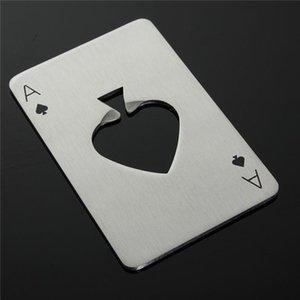 50% доставки плата за доставку 200 шт. Poker Игральная карта Ace of Spades Bar Tool Сода Пиво Бутылка Бутылка Открыватель Подарок Рождественский Подарок X0127