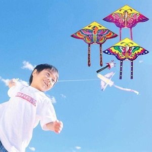 Single 90*50cm Sports Butterfly Flying Kite Board Without Outdoor Game Toy Durable Kites String Children Kids Winde X8J5