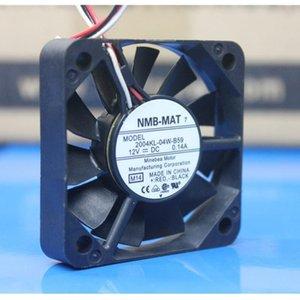 5 unids NUEVO NMB-MAT 50mm 2004KL-04W-B59 Dos rodamientos de bolas DC 12V 0.14A 5010 50mm 50 * 50 * 10 mm Fan de ventilador de refrigeración con 2pin 3Pin