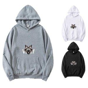 Men's Loose Hoodie Cat Printed Long Sleeve Black Oversized Pullover Sweatshirt