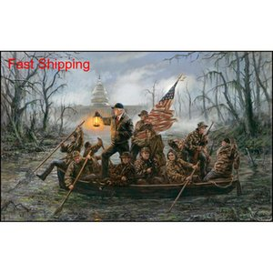 Crossing The Swamp, Artwork Print On Canvas Modern High Quality Wall Painting For Home Deco qylSdv sports2010