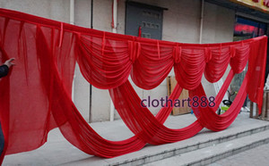 6M (20ft) wide swags for backdrop party background valance wedding backcloth stage decorations stylist beautiful draps