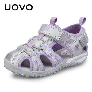 UOVO New Arrival Summer Beach Sandals Kids Closed Toe Toddler Sandals Children Fashion Designer Shoes For Girls #24-38 210305