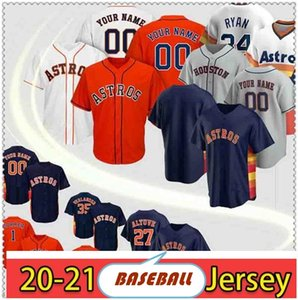 Houston Jersey Astros Jersey 2 Alex Bregman Astros 27 Jose Altuve 5 Jeff Bagwell 7 Craig Biggio 4 George Springer Custom Baseball