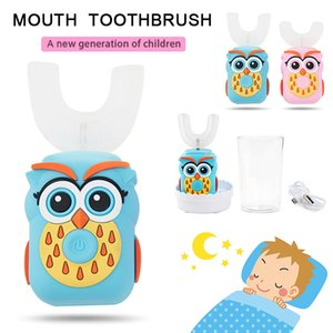Electric Toothbrush Kids 3 Modes Rechargeable U-Shaped 360-Degree Sonic Intelligent Automatic Cartoon Children's Toothbrush Gift