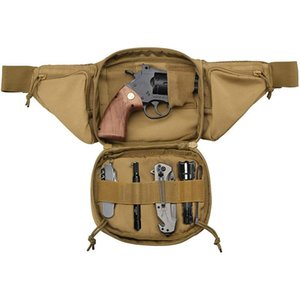 Storage Bags Tactical Waist Bag Concealed Pistol Fanny Pack Gun Holster Outdoor Military Shoulder Fits 1911 And More