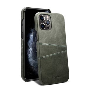 Retro Slim Dual Card Slots Leather Wallet Back Case for Samsung S21 Ultra S20 S10 5G S8 Plus S9 Note8 Note9 Note10 Note20