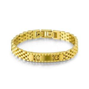 Luxus Mode Tachometer Männer Armreif Armband Charme Armband Männer Krone Neue Goldkette Uhr Schmuck Zubehör