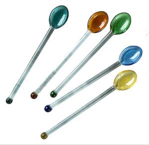 Clear Glass Icea Cream Spoon Stirring Rod Stick Coffee Cucchiaino Cucchiaino da Tè Cucchiaino Dinnerware Eco-friendly Tableware Regalo