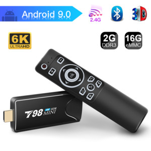 Limited Promotion TV Stick 6K T98 MINI Smart Box Android 9.0 2GB 16GB H6 Quad-Core 2.4G WIFI IM Google Play Store