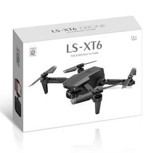 LSRC LS-XT6 Дрон 4K HD Dual Lens Мини Дрон Wi-Fi 1080p Трансмиссия в реальном времени FPV Dual Cameras Складная RC Quadcopter Игрушка