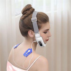 마이크로 전류 전기 얼굴 슬리밍 벨트 V Face Chin Lift Massager 충전식 진동 얼굴 슬림 전극 패드 31 C022801 C31