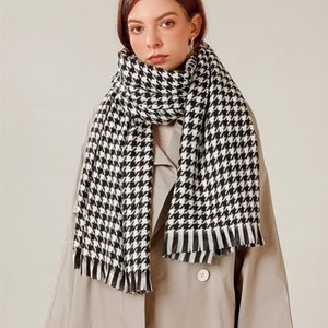 Neck Ties 70*185cm Autumn And Winter Tartan Design Scarf Female British Bagh Bristled Cashmere Shawl Dual-use Thick Couple
