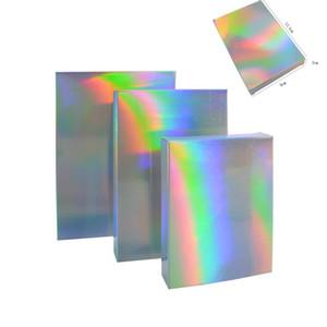 Caixa de armazenamento Dobra Lembrança de casamento Organizador Laser Push Push Artistic Color Recipiente Multi Tamanho Retângulo Papel Papel Embalagem 40We G2