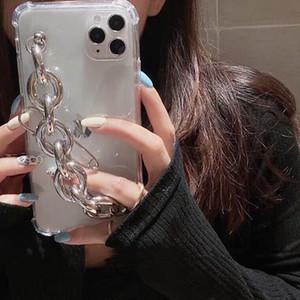 Wrist Chian Strap Phone Case For Xiaomi 9SE Redmi Note9ProMax Note8Pro Note7Pro Note6Pro 9 9a 8a Anti-knock transparent Cases