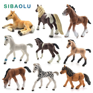 Simulation animal model cute horse figurine Crafts Action Figure home decor miniature fairy garden decoration accessories statue C0220