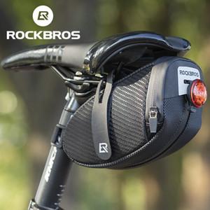 ROCKBROS Bicycle Tail Bag Water Repellent Reflective Large Capacity Saddle Bag Cycling Bag MTB Bike Accessories
