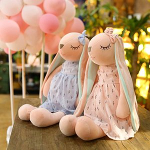 Cartoon Rabbit Cute Long Ears Bunny Doll For Children Soft Plush Stuffed Animal Appease Sleeping Toys Home Decoration