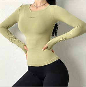 New Women's Long Sleeve Top Gym Leggings Running Tights Sportswear Tracksuit Sports Suit For Fitness Clothing Seamless Yoga Set