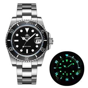 Addies relógio de mergulho 200m 2115 relógios de quartzo homens C3 super luminosa calendário de mergulho relógio moda aço inoxidável homens relógios 210303